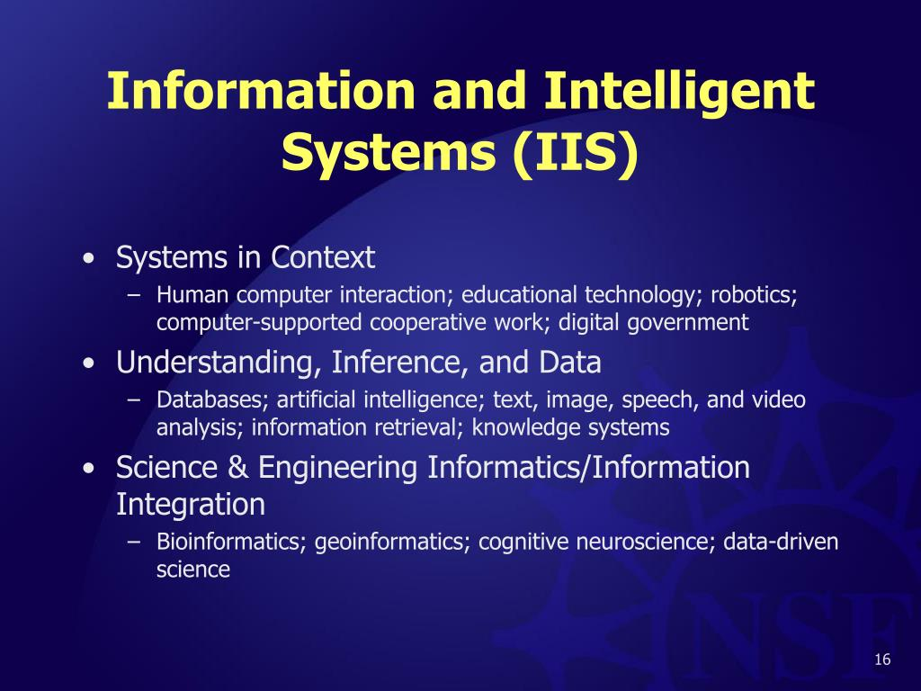 Information and Intelligent Systems (IIS)