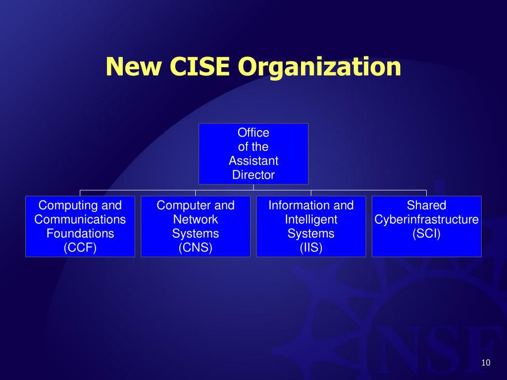New CISE Organization