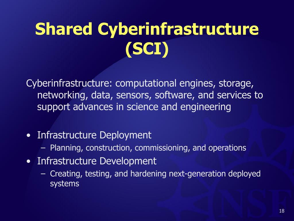 Shared Cyberinfrastructure (SCI)