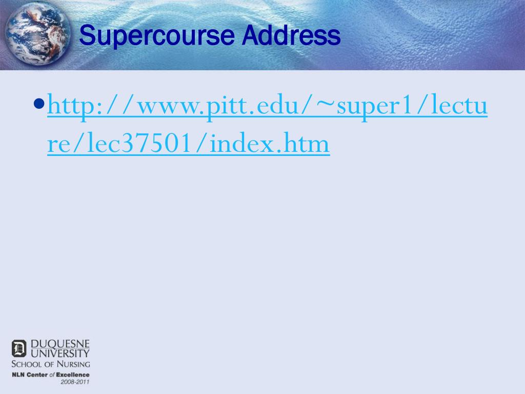 Supercourse Address