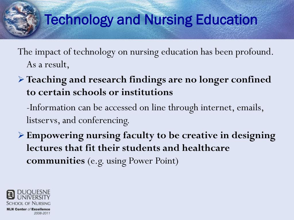Technology and Nursing Education