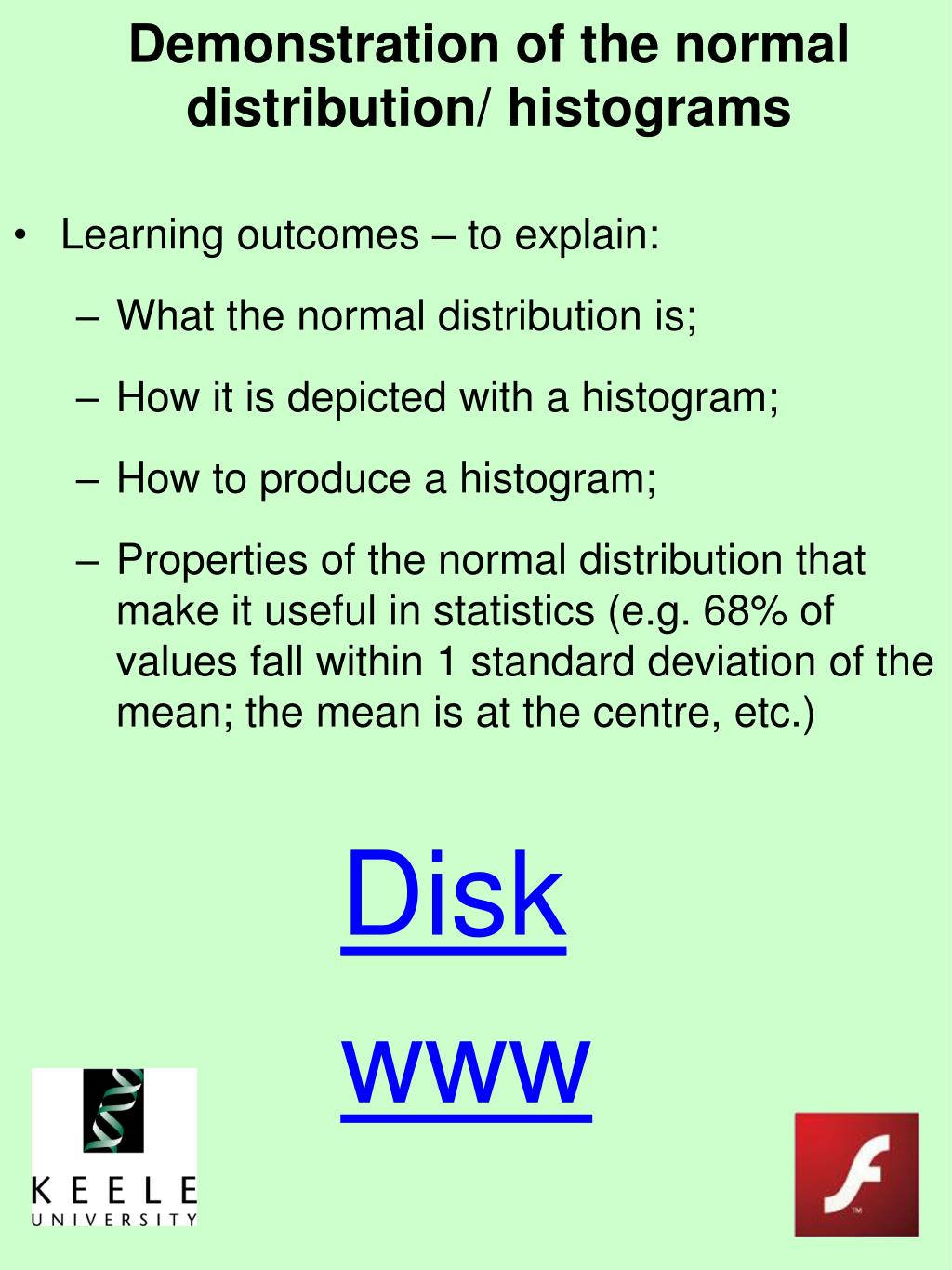 Demonstration of the normal distribution/ histograms