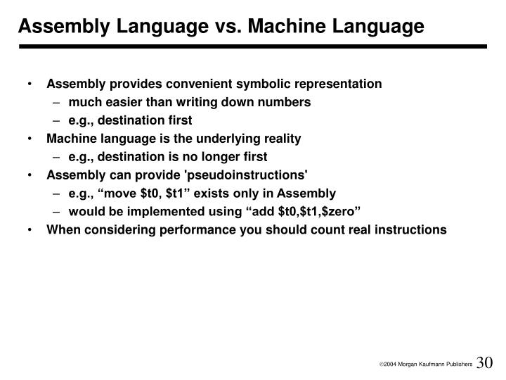 Assembly Language vs. Machine Language