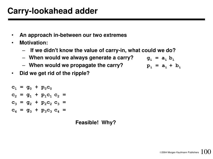 Carry-lookahead adder