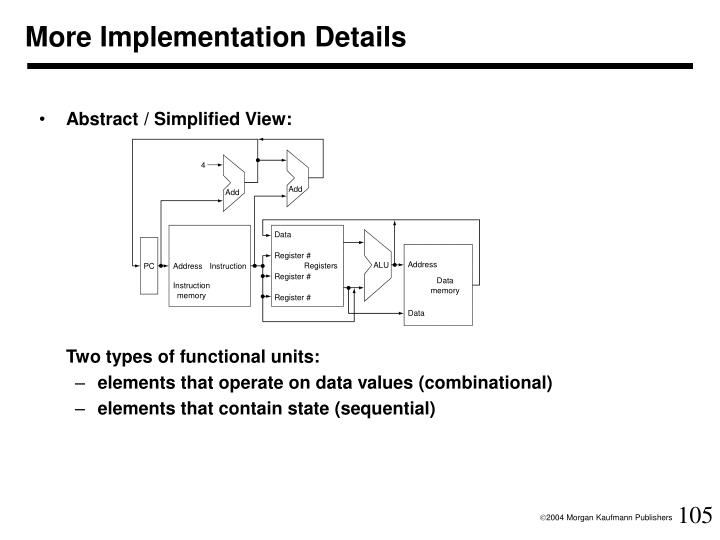 More Implementation Details