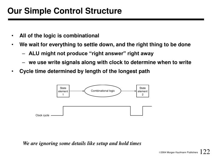 Our Simple Control Structure