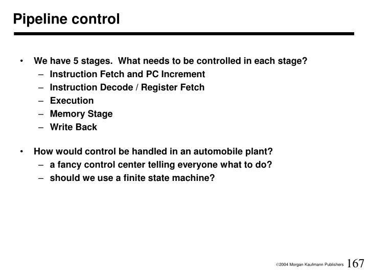 Pipeline control