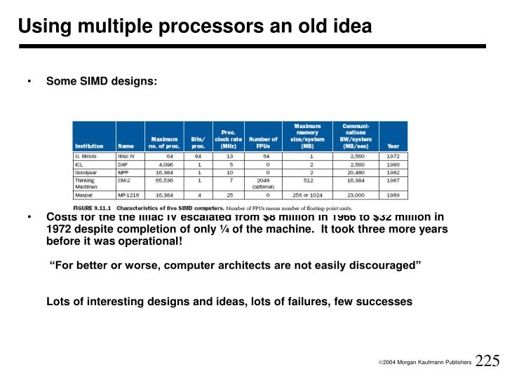 Using multiple processors an old idea