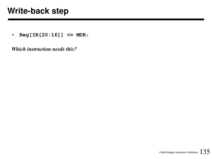 Write-back step