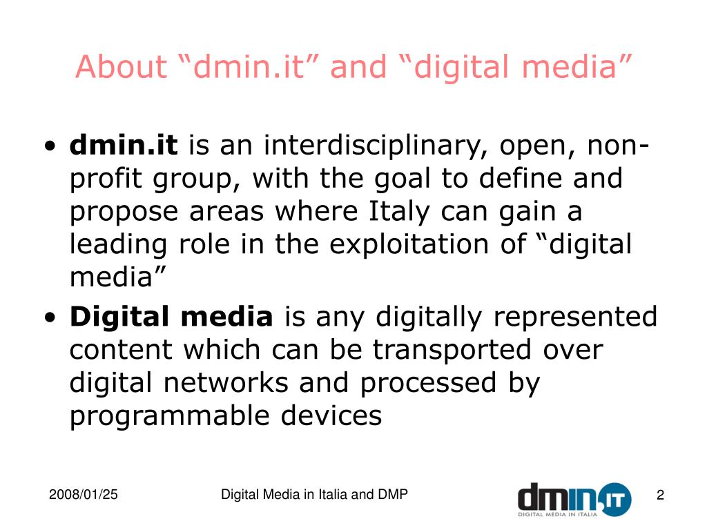 "About ""dmin.it"" and ""digital media"""