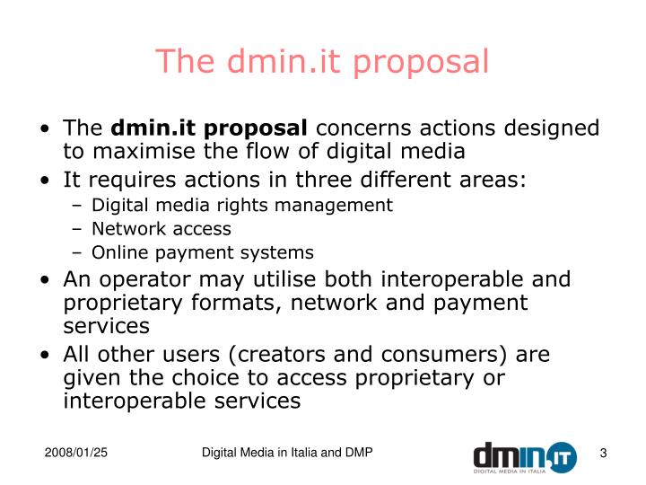 The dmin it proposal