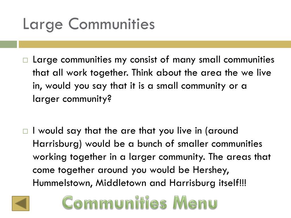 Large Communities