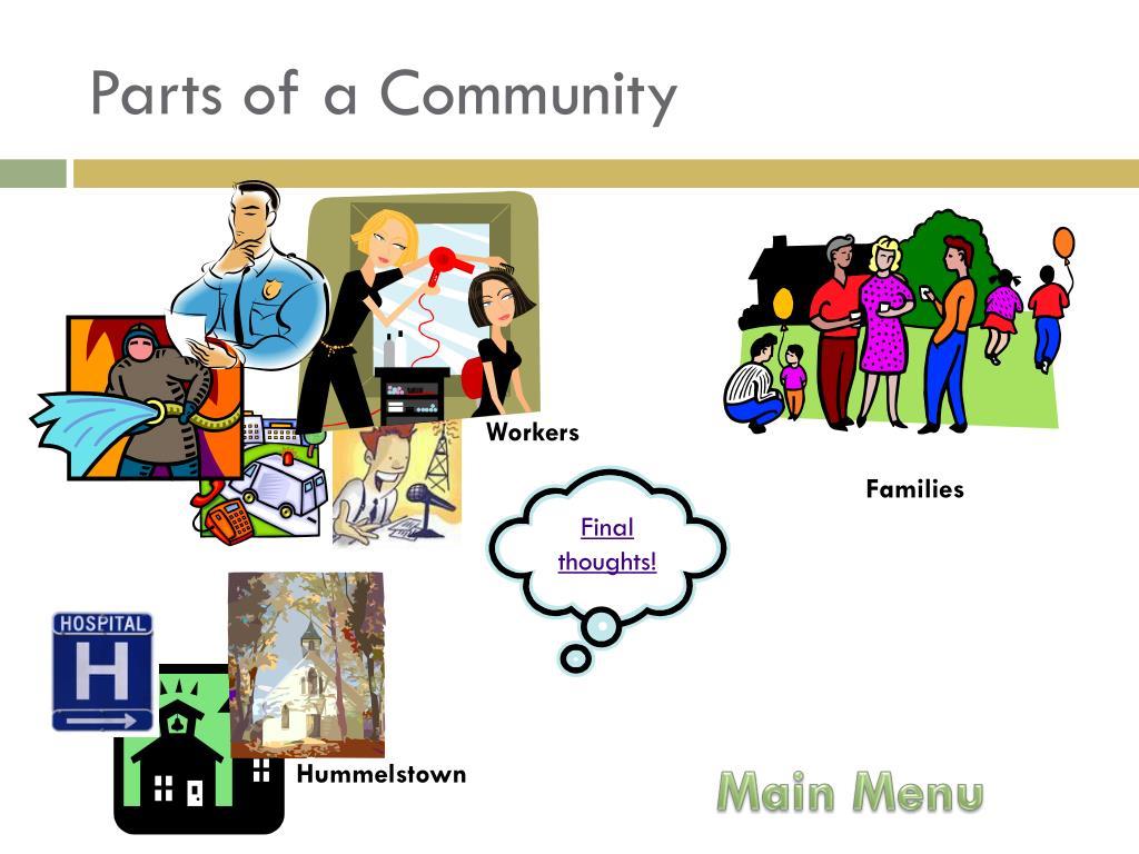 Parts of a Community