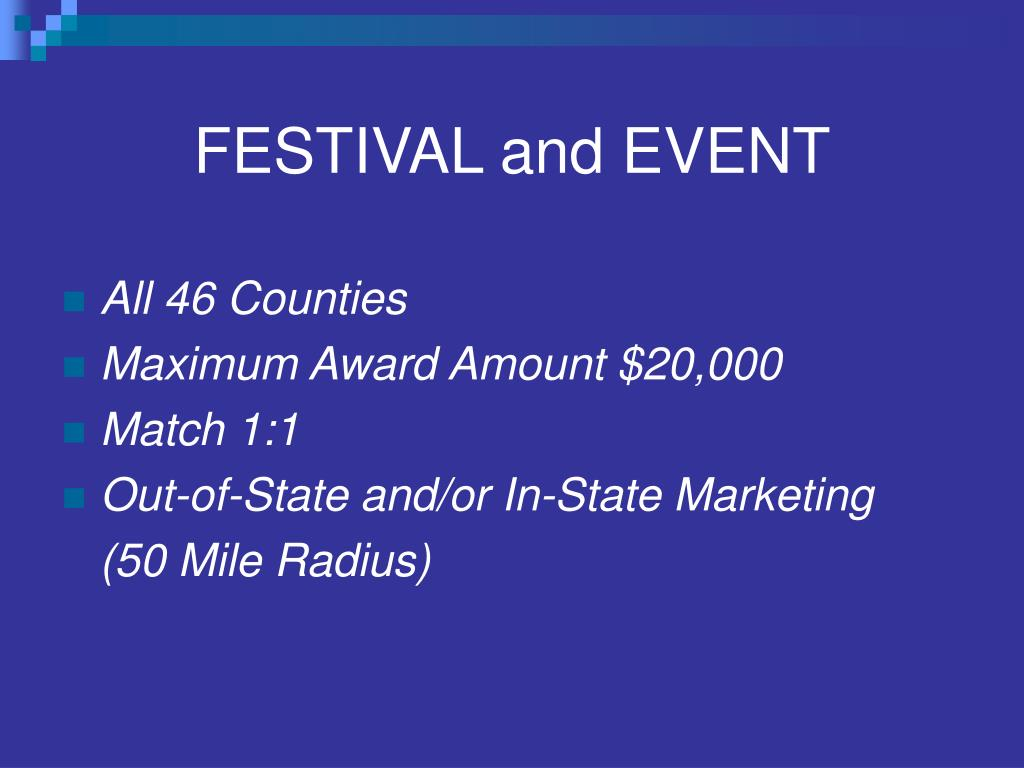 FESTIVAL and EVENT