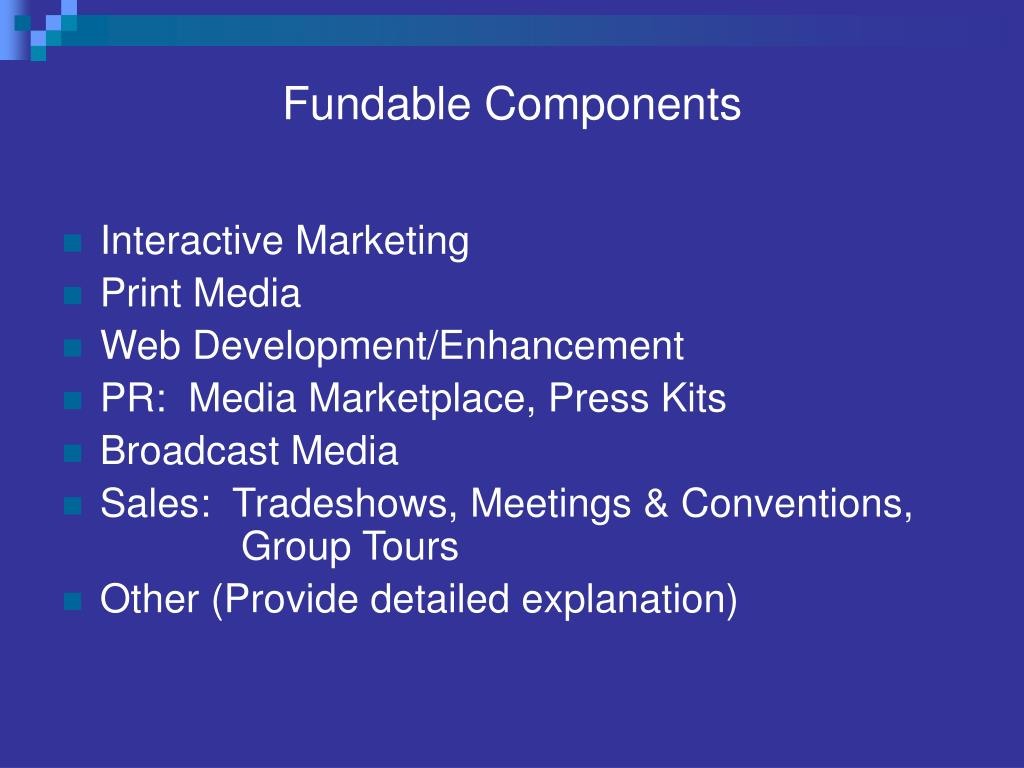 Fundable Components