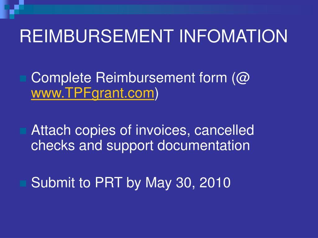 REIMBURSEMENT INFOMATION