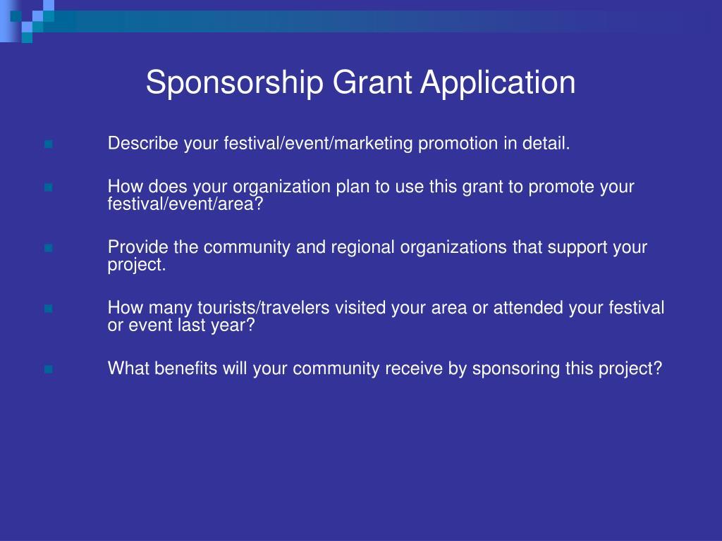 Sponsorship Grant Application