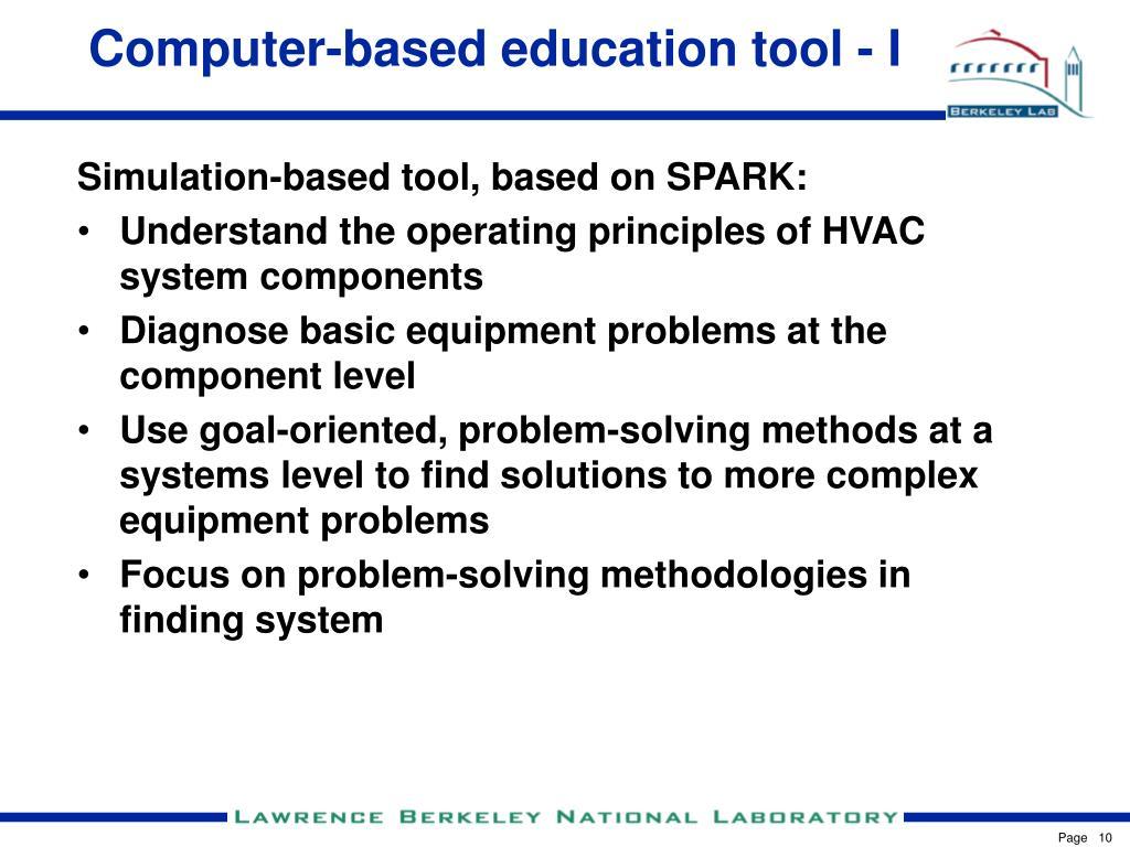 Computer-based education tool - I
