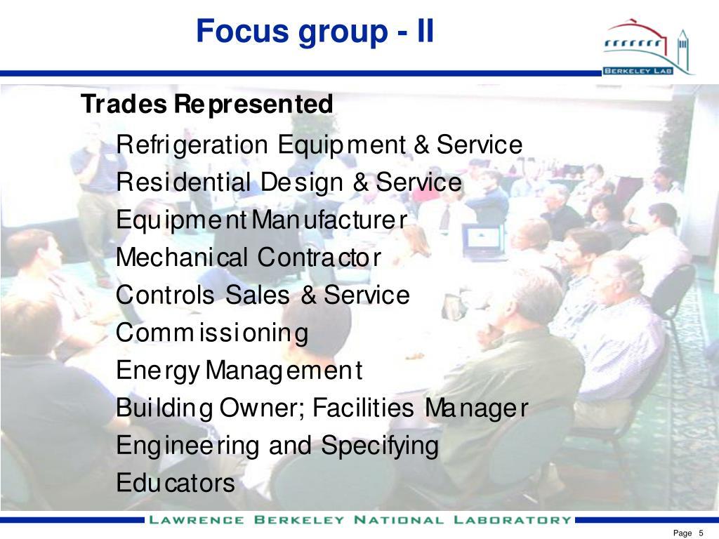 Focus group - II