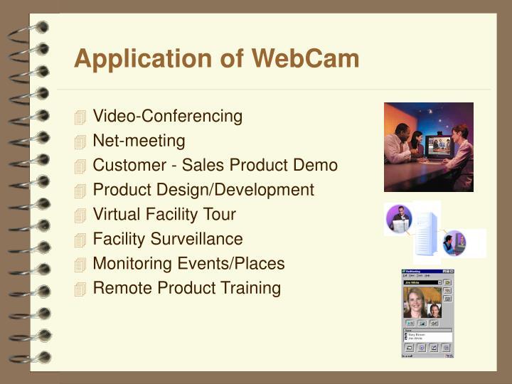 Application of WebCam
