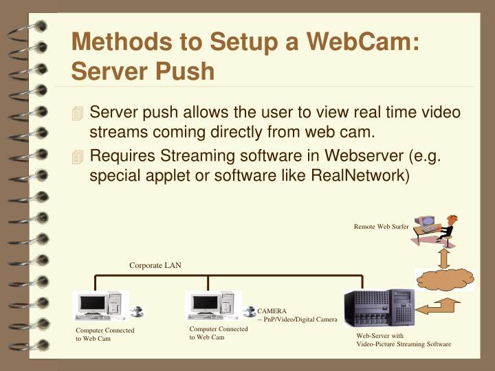 Methods to Setup a WebCam: Server Push