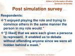 post simulation survey