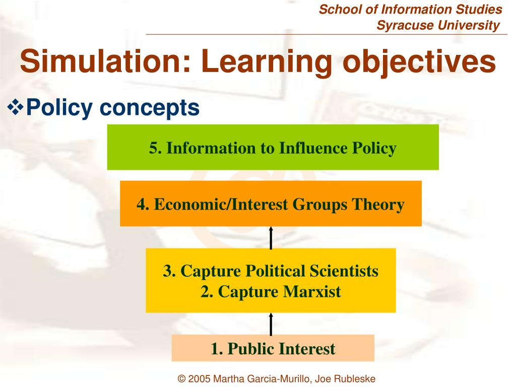 5. Information to Influence Policy