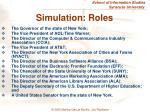 simulation roles