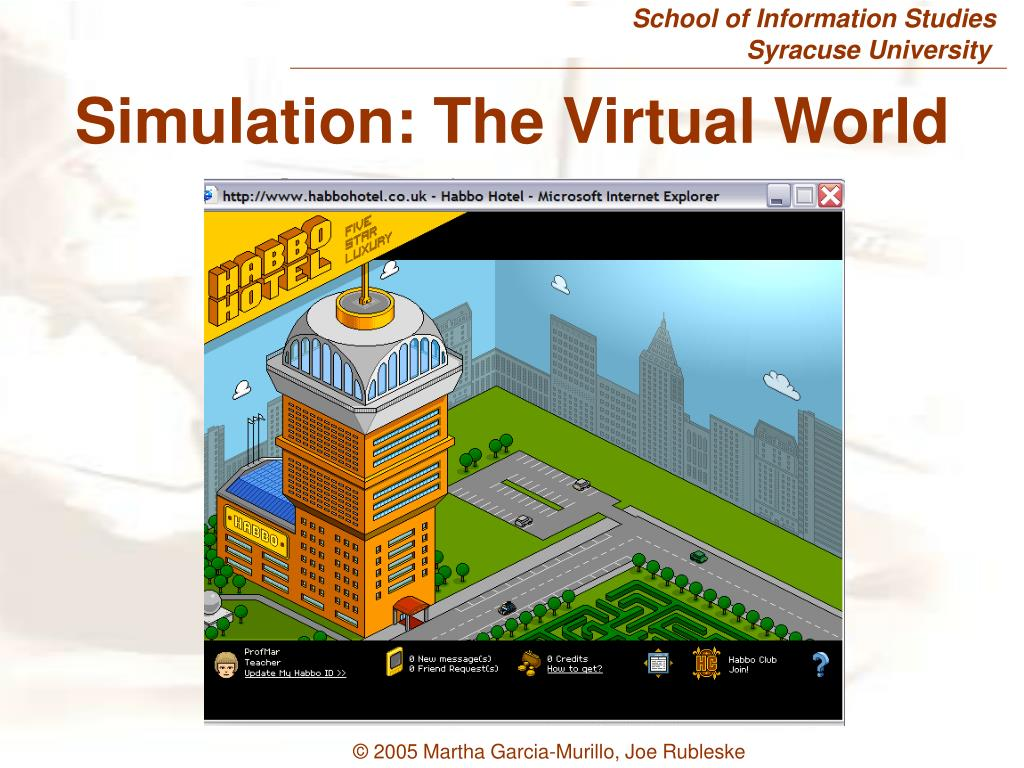 Simulation: The Virtual World
