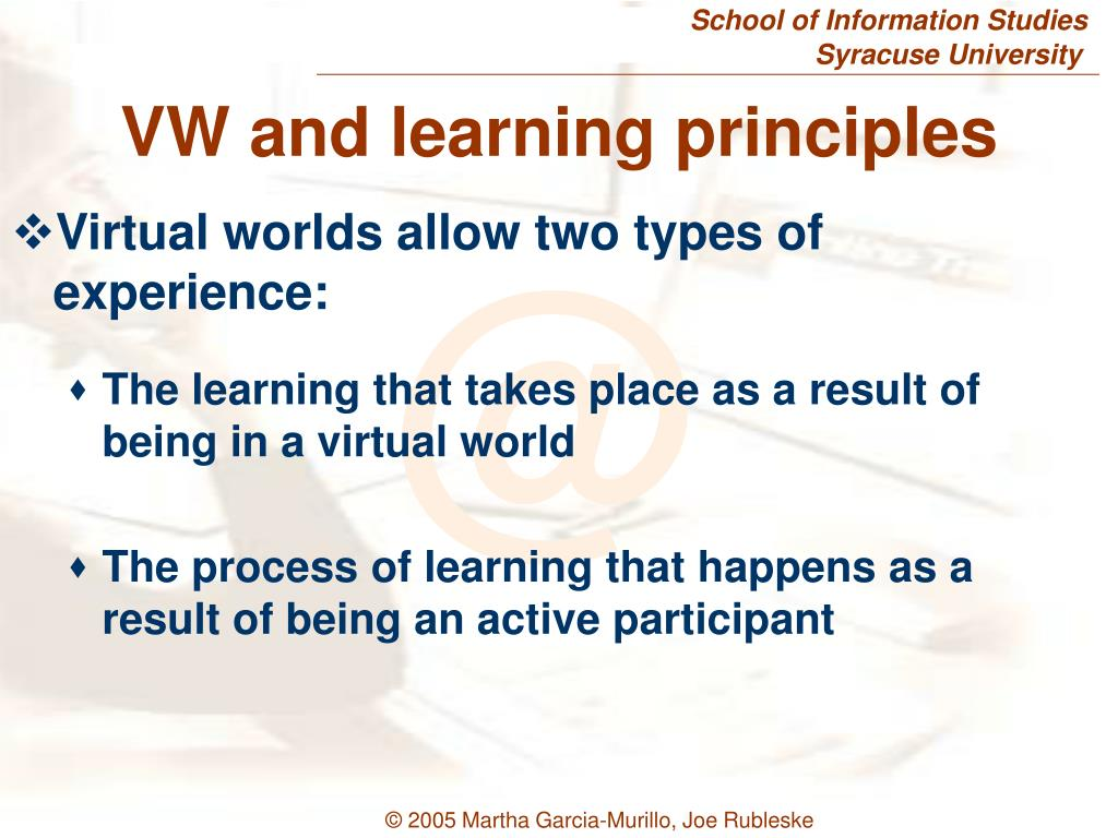 VW and learning principles