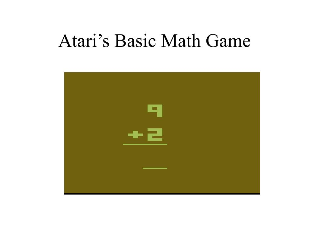 Atari's Basic Math Game