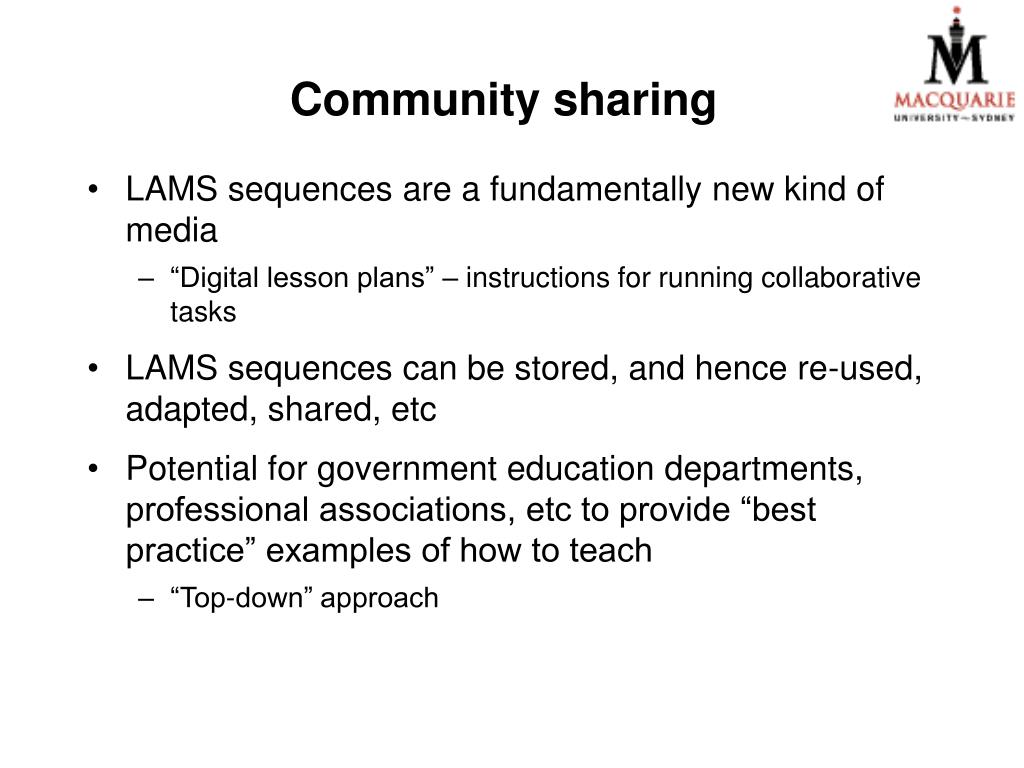 Community sharing