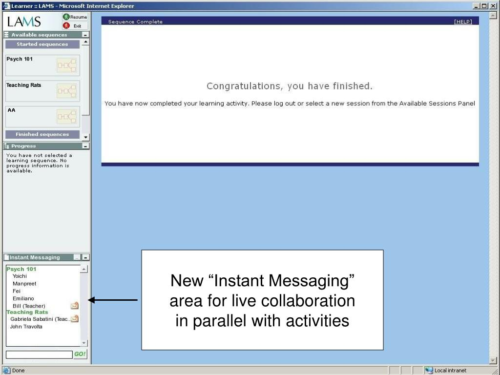 """New """"Instant Messaging"""""""