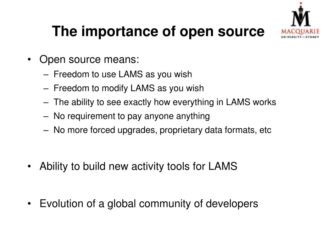 The importance of open source