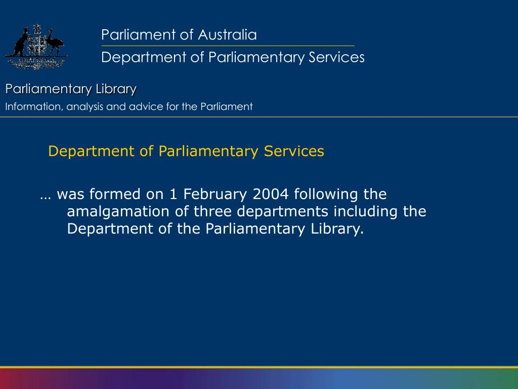 Department of Parliamentary Services