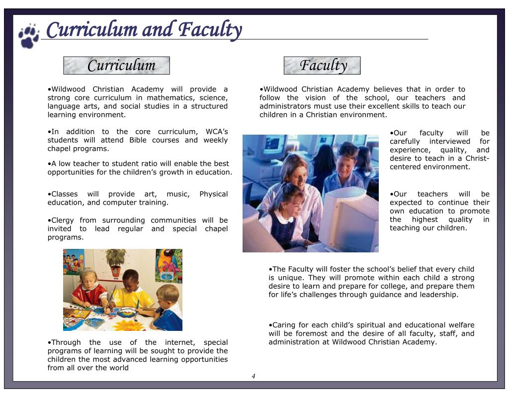 Curriculum and Faculty