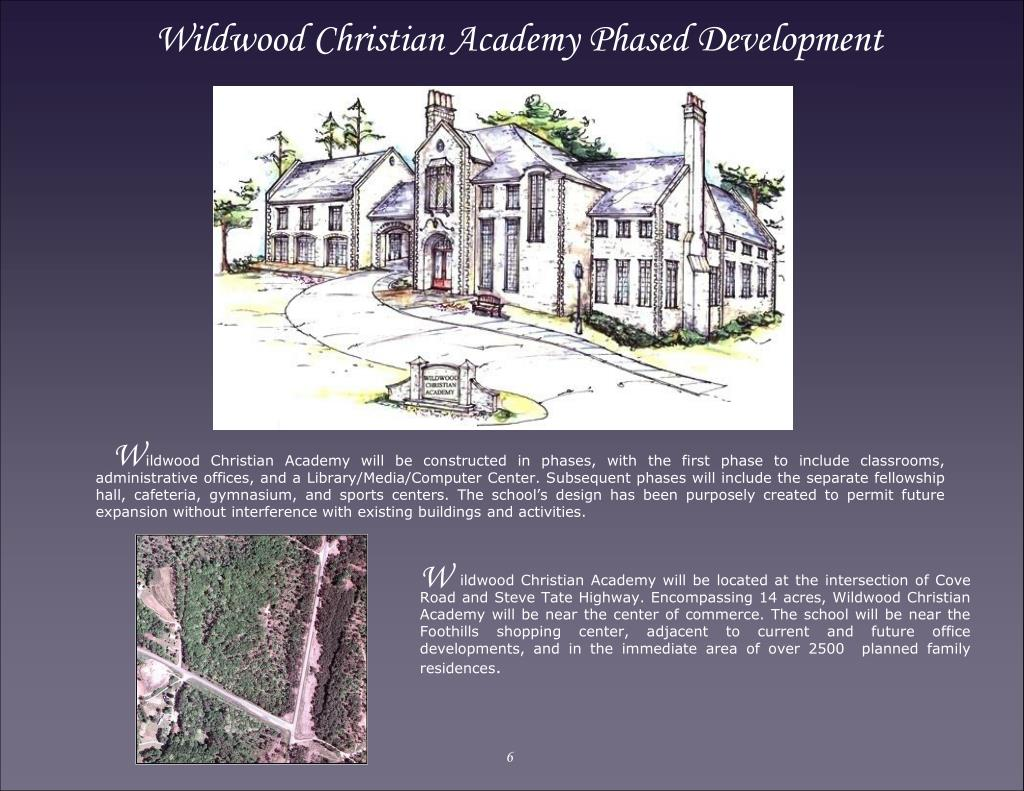 Wildwood Christian Academy Phased Development
