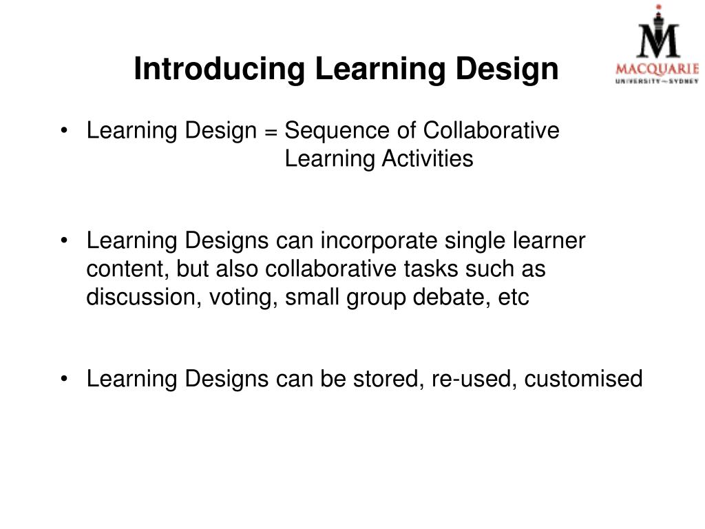 Introducing Learning Design