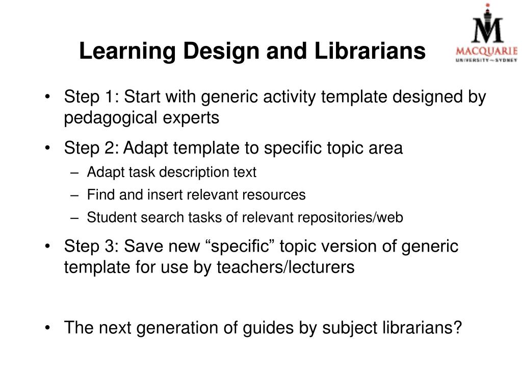 Learning Design and Librarians