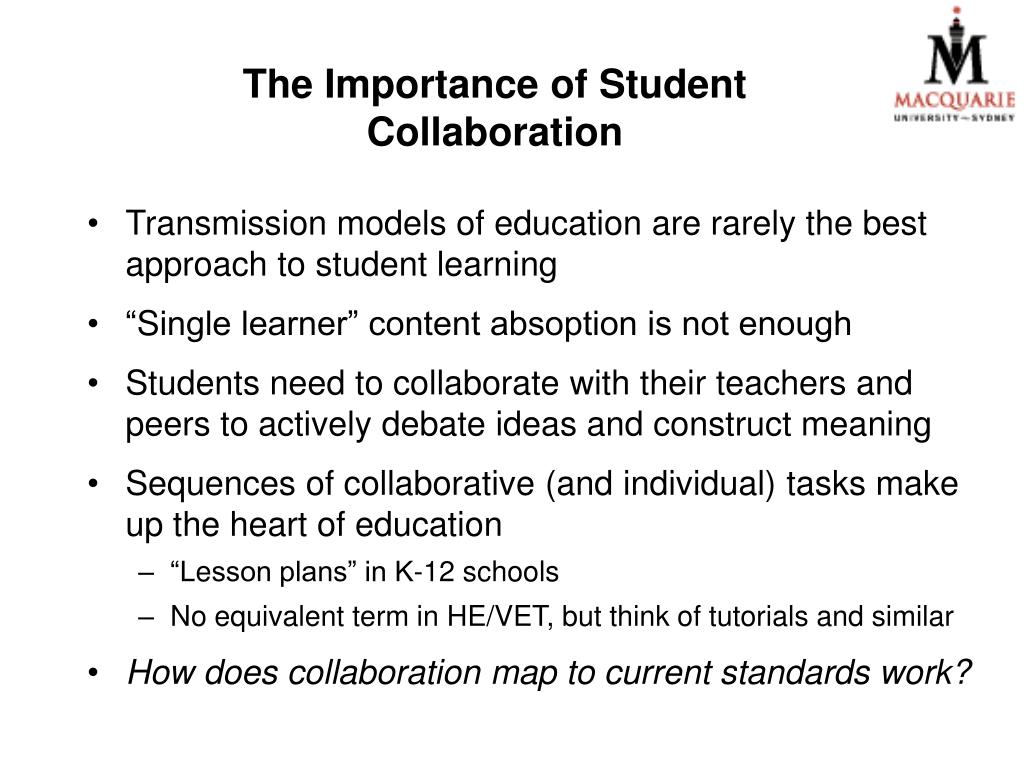 The Importance of Student Collaboration
