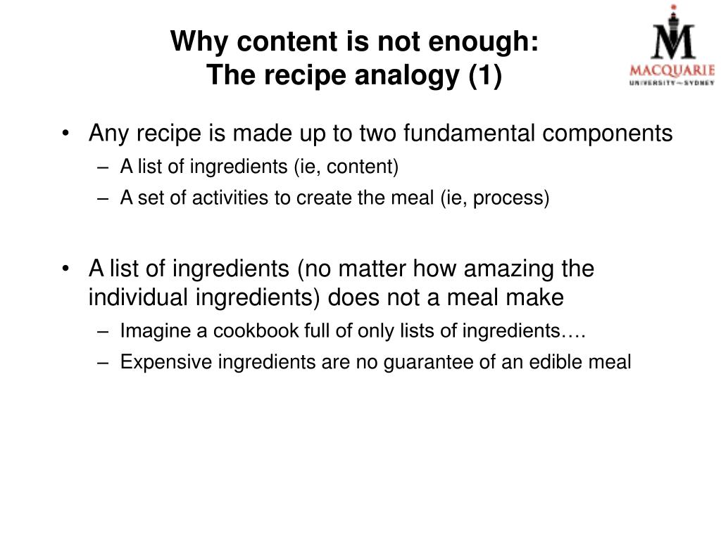 Why content is not enough: