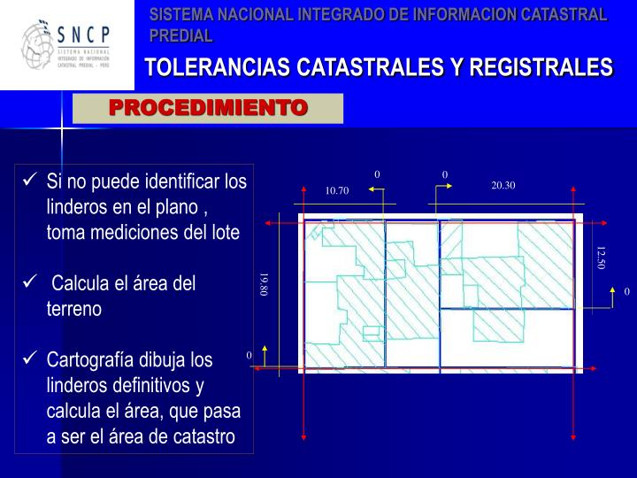 SISTEMA NACIONAL INTEGRADO DE INFORMACION CATASTRAL PREDIAL