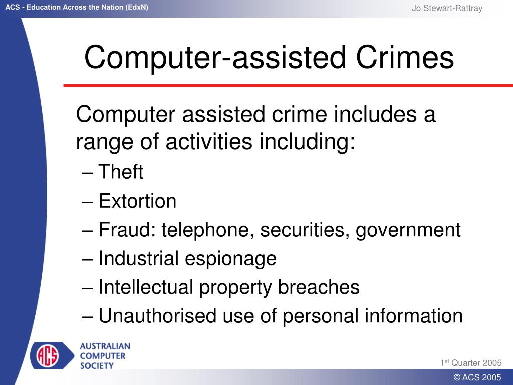 Computer-assisted Crimes