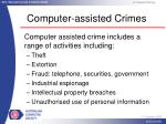 computer assisted crimes
