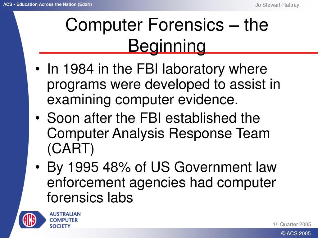 Computer Forensics – the Beginning