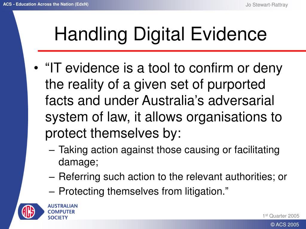 Handling Digital Evidence