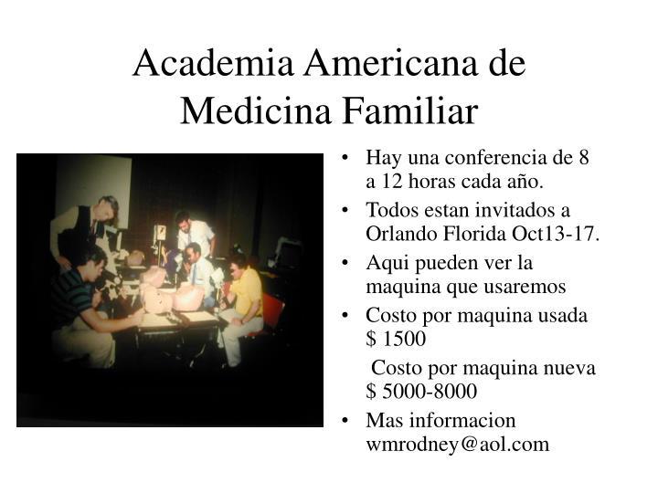 Academia Americana de Medicina Familiar