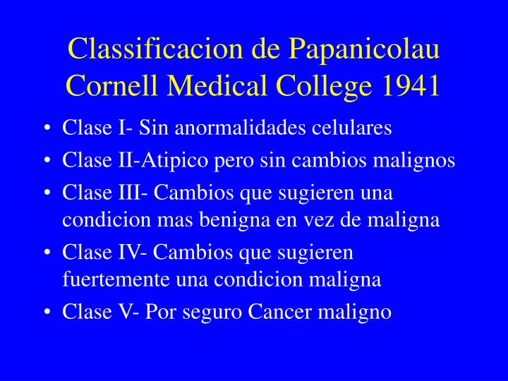Classificacion de Papanicolau