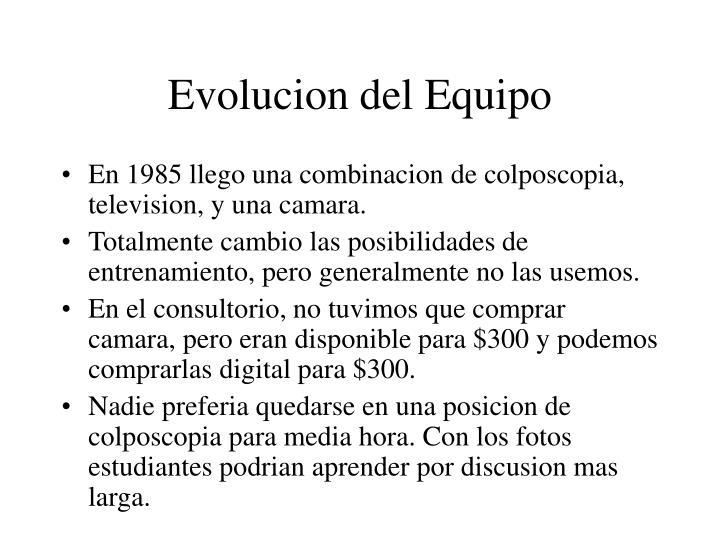 Evolucion del Equipo