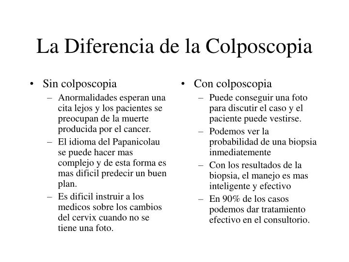 Sin colposcopia
